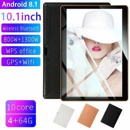 2019 câmera g sensor comprimido Preço ultra baixo 10.1 polegada Android 8.1 Tablet PC 4 GB + 64 GB 10-NIF WIFI tablet 13.0MP Câmera YH