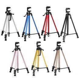 2019 soporte para videocámara Trípode de video de cámara de aluminio para videocámara / DSLR Soporte de trípode monopod profesional