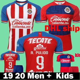 Definir camisetas de futebol on-line-2019 2020 México Liga Mx Chivas Guadalajara Camisas De Futebol 19 20 t-shirt Dos Homens Crianças Conjunto A.PULIDO E.LOPEZ O.PINEDA Criança GUMEZ Camisas De Futebol