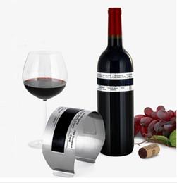 Termometri del vino online-Bottiglia di vino rosso Digital Thermometer Temperatura Braccialetto Reader Metallo LCD acciaio inossidabile manica bar accessori per il vino strumento