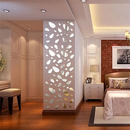 decorazione specchi soggiorno Sconti 3D specchio rimovibile adesivo da parete per soggiorno camera da letto TV sfondo specchio murale adesivo moderno di arte fai da te Home Decor
