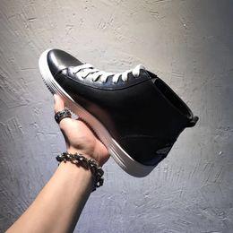 Vendita calda-Vendita calda-Scarpe da uomo alte di lusso Gazza ape Caviglia Tacchi piatti in vera pelle Sneaker casual Scarpe da ginnastica Taglia 38-44 italiana da