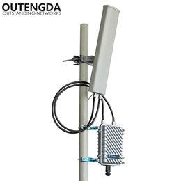 Роутер открытый онлайн-Long Range 400 метров открытый Wi-Fi точка доступа Удлинитель 2,4 ГГц 300 Мб Беспроводной маршрутизатор Открытый AP WiFi Базовая станция Hotspot с 14dbi ANT