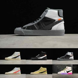 Hot Off 2019 Blazer Mid Queen Casual mid high women sneakers Orange Black Rainbow Grim Reepers Running Skateboard trainer men sport shoe