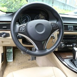volantes vw passat Rebajas ABS Carbono Fibra De lentejuelas volante Marco de moldura para BMW Serie 3 E87 Serie 1 3/5 puertas Hatchback Coupe E92 E93 E90 2004-2012