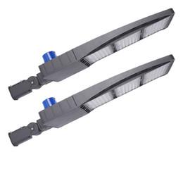 2020 sensore fotocellula di illuminazione DLC ETL 480W 300W 150W LED Shoebox parcheggio luci Lot IP65 impermeabile via esterna palo della luce con sensore fotocellula DLC Listed sensore fotocellula di illuminazione economici