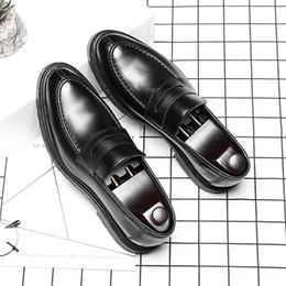 mens di cuoio di scarpe sociali Sconti Scarpe da uomo in pelle Designer Social Formal eleganti scarpe da sposa uomo # MSW8118161