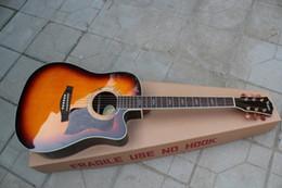 2019 voando guitarra branca Tobacco Sunburst Body Solid Top 41 polegadas guitarra acústica com Rosewood Fretboard, corpo de ligação, pode ser personalizado