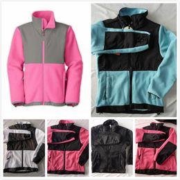 2019 abbigliamento antivento North New Kids Designer vestiti dei ragazzi caldo pile softshell sciare giù giacche invernali moda bambino antivento vestiti della ragazza giacche rosa cappotti sconti abbigliamento antivento
