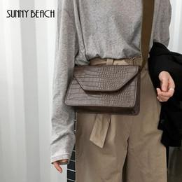 Wholesale SUNNY BEACH Bolso de Las Mujeres de Impresión de Cocodrilo PU Crossbody de Cuero Bolsos Femeninos Vintage Estilo Coreano de Moda Japón