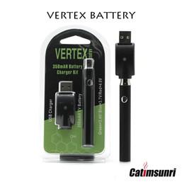 2019 gold ego c VERTEX vorheizen Akku 350mAh E Zigaretten Vape 510 Gewinde-Feder für Co2 Öl Variable Voltage Vape Cartridges VV LO vorheizen Batterie Start