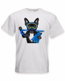 Argentina Bulldog francés Scuba Diver Verano Moda Impresión divertida Camisetas Hombres Mujeres Unisex Moda camiseta Envío Gratis cheap bulldog women t shirt Suministro