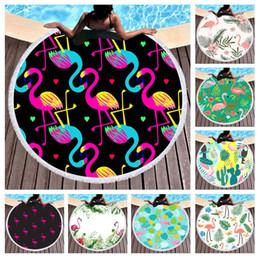 Freies verschiffen Tropische Pflanze Kaktus Monstera Blatt Flamingo Tukan Muster Großen Pool Strandtuch Wohnkultur Wandbehang Tapisserie 150 cm / 59