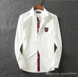 Algodão puro mercerizado camisa de lapela de algodão dos homens de manga longa slim coreano moda bonito dos homens de negócios casuais de Fornecedores de camisa térmica vermelha