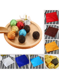 2021 emballages de bonbons d'aluminium 1000 Pcs 9 Couleurs chocolat bonbons wrappers Papier d'aluminium Papier d'emballage Papiers Place Sweets Lolly papier Bonbons Tin Foil Wrapper