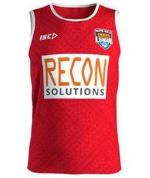 Тонга регби жилет 2019 дома красный Джерси Тонга регби 2018 тренировки синглетный Тонга регби Кубок мира жилет Джерси от Поставщики дешевые джемперы