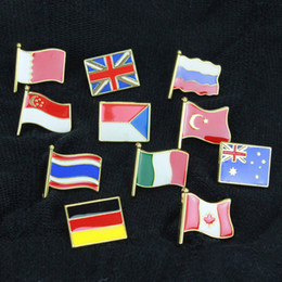 2021 drapeaux de la carte du monde Creative Drapeau américain Carte du monde Drapeau national PINS Broches Designer Broches Mode Amour alliage Vêtements pour femmes Accessoires Breloque Broche drapeaux de la carte du monde pas cher