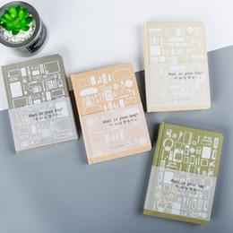 livro em capa dura Desconto A5 Simples criativo papel duro tampa dos desenhos animados padrão de papel capa notebook diário diário presente