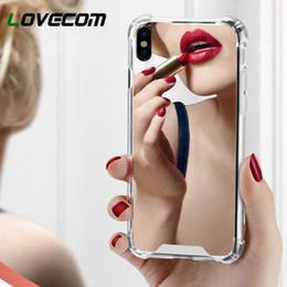 2019 telefones femininos Casos de telefone espelho de luxo para iphone xs xr xs max x 6 6 s 7 8 além de Suave TPU + PC Telefone Tampa Traseira Refletir Girly Coque telefones femininos barato