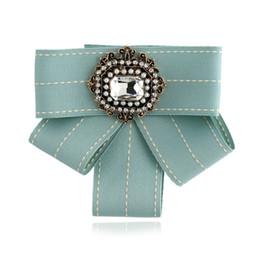2019 grossistes cravates pour hommes bowties WINSTBROK Nouvelle Mode Femmes Bowknot Fleur Bohême Cristal Bowtie Européenne Tissu Rayé Tissu Noeud papillon Cravate