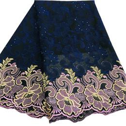African Dry Lace Stoff In Navy Blau 100% Baumwolle Schweizer Voilespitze in der Schweiz Für African Sewing Voile Lace Stoff für Kleid SW-340 von Fabrikanten
