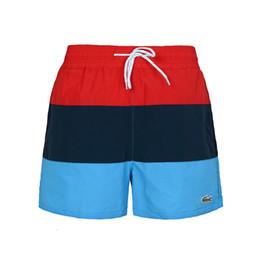 Canada 2018 tendance shorts mens shorts de plage été longueur au genou marque designer pantalon court taille élastique respirant rayé Offre