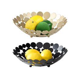 Innovative metallo controsoffitto cesto di frutta ciotola rotonda grande tavolo decorativo centrotavola supporto per frutta verdura pane da