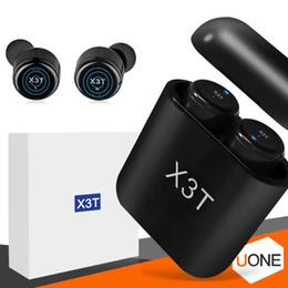 стереонаушники sony ericsson bluetooth Скидка X3t Bluetooth наушники Беспроводные наушники Близнецы CSR4.2 стерео наушников с магнитной коробкой заряжателя касания для пакета розницы Iphone X Samsung