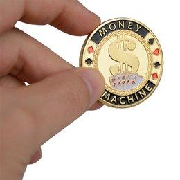 2019 chip da poker in metallo Moneta gettone gettone in metallo con protezione in plastica di alta qualità con coperchio in plastica Set di chip per poker in Texas Casino Pokerstars MACCHINA DI DENARO chip da poker in metallo economici