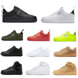 Белый высокий топ мужской кроссовки онлайн-Nike Air Force 1 Converse Shoes Cheap Brand Men and Women Casual Shoes High Quality Canvas Sneakers Black White Red High Top Fashion des chaussures