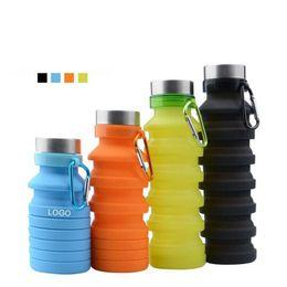 2019 bottiglie d'acqua a forma di animale Tazze pieghevoli telescopiche a tazza pieghevole in silicone per lo sport Viaggi all'aperto Tazze da campeggio Piattini Bottiglie d'acqua Bicchieri