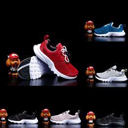 2019 zapatos de voleibol para niños Nike Presto React Presto Calzado deportivo zapatos para niños FashionTraining Voleibol bebé niño niña regalo Casual niños Zapatillas de deporte zapatos de voleibol para niños baratos