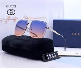 2019 Novos Óculos De Sol De Luxo Óculos De Sol À Moda Designer Óculos De Sol para Homens Das Mulheres de Vidro UV400 6 Estilo com Litttle Bees Com CAIXA de Fornecedores de esportes fr