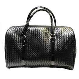 Borsa da viaggio in pelle nera da uomo / da donna Borsa da viaggio grande borsa a mano modello borsone da viaggio Borsa da viaggio grande capacità PU da