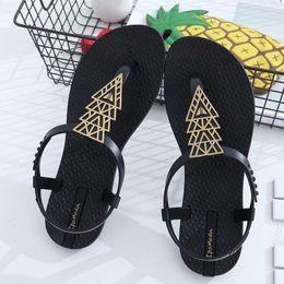 2019 tipos de sandalias planas ENPLEI 2019 nuevo tipo chanclas Bohemia sandalias de punta plana de fondo mujer antideslizante de moda de verano al por mayor tipos de sandalias planas baratos