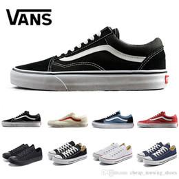 Newest fear of god men women canvas vans fear of god baskets sneakers triple black white van old skool sk8 shark flat casual shoe