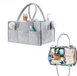 cajas de almacenamiento de juguetes para niños Rebajas Plegable Bebé Pañal Caddy Organizador Regalo Niños Juguetes Bolsa de almacenamiento portátil / caja para viaje de coche Organizador de mesa cambiante