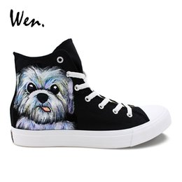 Whereisart Trendy High Top Shoes Man Pug Dog Printing Sneakers Flats Men Vulcanize Shoes Animals Cat Casual Shoes Men Walking Men's Shoes