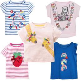 Tshirt di stampa animale online-Ragazze Top Estate 2019 Cute Kids Tshirt Vestiti Della Neonata T-Shirt Unicorno Animal Print Bambini Magliette Per Le Ragazze Abbigliamento Y190516