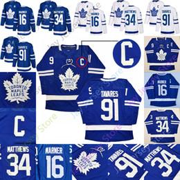 hoodie do estilo do hóquei Desconto 2019 Toronto Maple Leafs Jersey C patch 91 John Tavares um remendo 16 Mitch Marner 34 Auston Matthews Início Homens Adulto Tamanho S-3XL