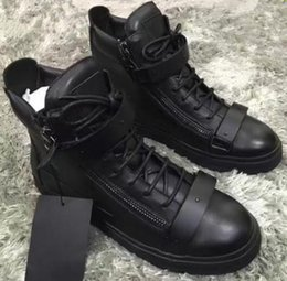 Zapatos de cuero genuino italiano online-Diseñador de la marca italiana zapatos de los hombres de cuero genuino de las mujeres zapatillas de deporte zapatos de mujer scarpa chaussure High-top zapatillas grandes tamaño 35-47