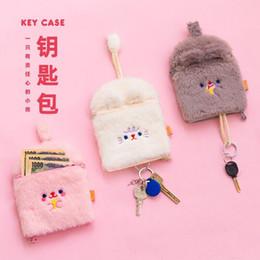 borsa morbida korea Sconti Holder Bentoy Milkjoy sveglio dell'orso chiave Custodia morbida flanella Zipper borsa della moneta della Banca Bus Carta Corea Fashion Girls Coin Sacchetti Bag Borse