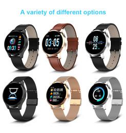 Q9 celular online-2019 mejor Q9 Reloj inteligente Presión Boold Impermeable Smartwatch hombres Monitor de ritmo cardíaco Moda para iPhone Teléfono celular Android