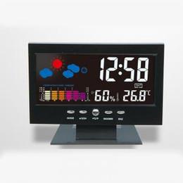 b3c6d69cae3 relógio termômetro Desconto Tela LCD Calendário Relógio Digital Carro  Termômetro Preto Data Hora Tempo Snooze Previsão