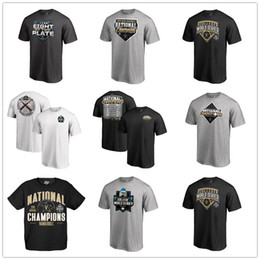 2019 tees universitarios Black Vanderbilt Commodores 2019 NCAA Baseball College Serie mundial Campeones nacionales Camisetas para hombre diseñador Fans Tops Tee logos impresos rebajas tees universitarios