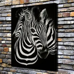 Pintura de cebra casera online-Animal Zebras, Home Decor HD Impreso Arte Moderno Pintura sobre Lienzo (Sin Marco / Enmarcado)