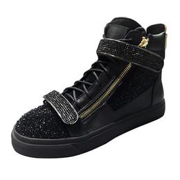 Высокие люди с застежкой-молнией для мужчин онлайн-Горячие продажи женщины мужчины Повседневная обувь Медуза черный красный High-top натуральная кожа молния мужчины мода роскошные плоские подошвы кроссовки