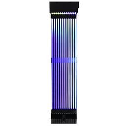 2019 cables de alimentación atx 24Pin + 8Pin Neon Line Cables de alimentación de 5 pines RGB PSU Placa base de PC Extensión de cable RGB de alimentación para E-ATX / ATX / Micro ATX rebajas cables de alimentación atx