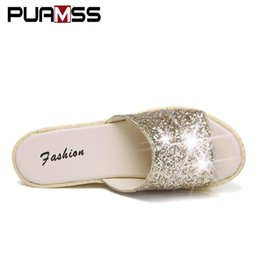 935cc4415668b5 bling sandals wedges UK - Summer Sandals Slippers Women Platform Sandals  Wedges Platform Shoes Mix Colors