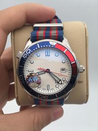 2019 ленточные часы AWF новая модель оригинальный Застежка командир Джеймс Бонд 007 белый циферблат Limited Edition роскошные часы механические автоматические нейлоновые ленты мужские часы скидка ленточные часы